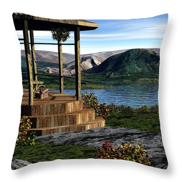 The Overlook Throw Pillow by John Pangia