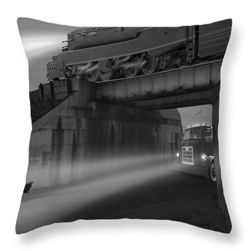 The Overpass Throw Pillow