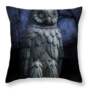 The Owl Throw Pillow by Tom Mc Nemar