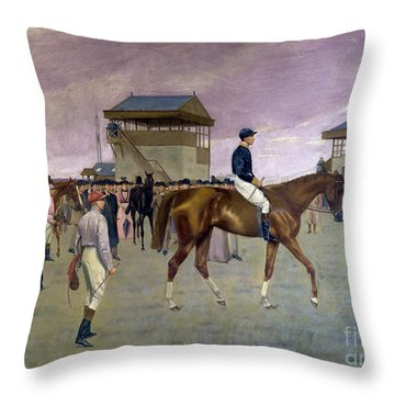 The Owner S Enclosure Newmarket Throw Pillow by Isaac Cullen