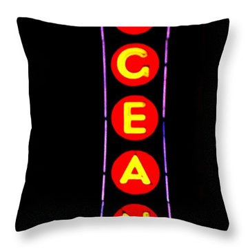 The Pageant In Neon Throw Pillow