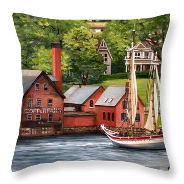 The Paint Factory And The Ardelle Throw Pillow by Eileen Patten Oliver