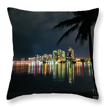 The Painted City Throw Pillow