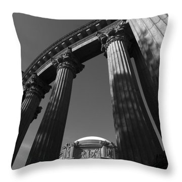 The Palace Of Fine Arts In San Francisco Throw Pillow