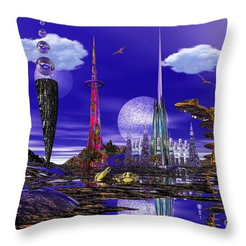 Throw Pillow featuring the photograph The Palace Of Prax by Mark Blauhoefer