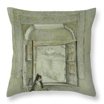 The Palace Of The Generalife Throw Pillow