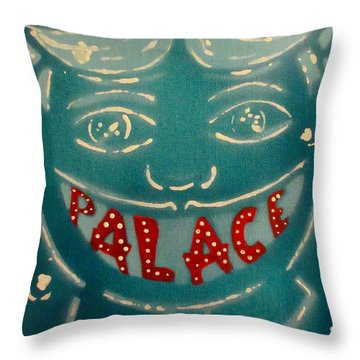 The Palace Smile Throw Pillow by Patricia Arroyo