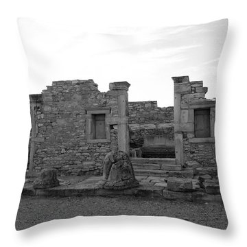 The Palaestra- Apollo Sanctuary  Throw Pillow by Augusta Stylianou
