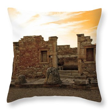 The Palaestra -kourion-apollo Throw Pillow by Augusta Stylianou