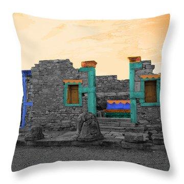 The Palaestra - Kourion-apollon Throw Pillow by Augusta Stylianou