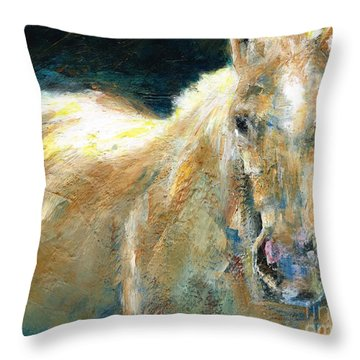 The Palomino Throw Pillow by Frances Marino