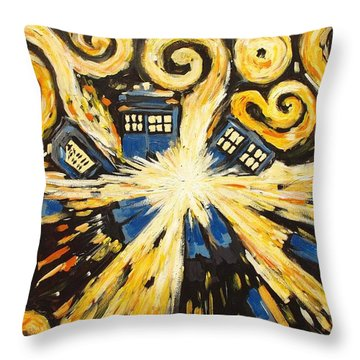 The Pandorica Opens Throw Pillow by Sheep McTavish