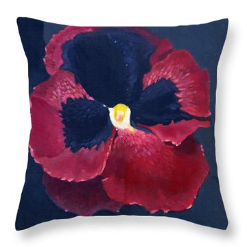 The Pansy Throw Pillow