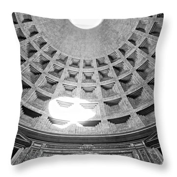 The Pantheon - Rome - Italy Throw Pillow by Luciano Mortula