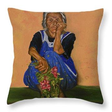 The Parga Flower Seller Throw Pillow