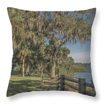 Throw Pillow featuring the photograph The Park by Jane Luxton