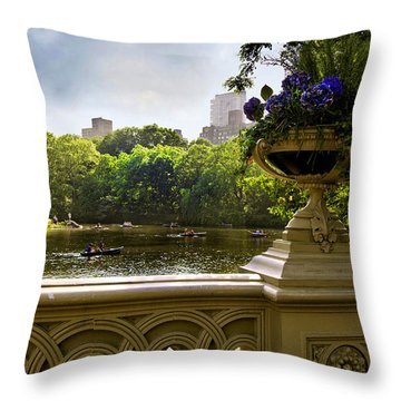 The Park On A Sunday Afternoon Throw Pillow