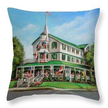 The Parker House Throw Pillow by Melinda Saminski