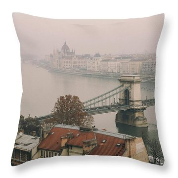 The Parliament And The Bridges Throw Pillow