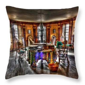 The Parlor Visit Throw Pillow