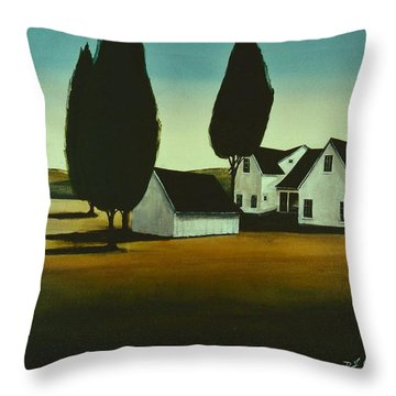 The Parson's House Throw Pillow