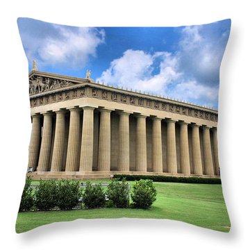 The Parthenon Throw Pillow