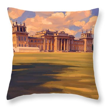 Throw Pillow featuring the painting The Party Tent At Blenheim Palace by Nop Briex