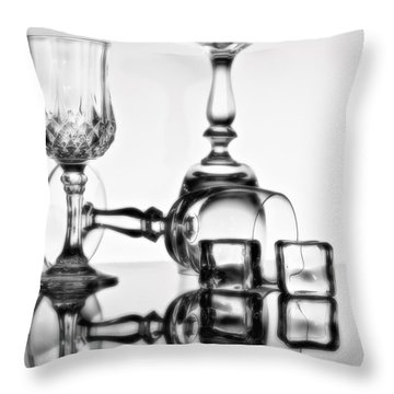 Throw Pillow featuring the photograph The Party's Over by Linda Blair