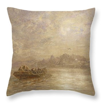 The Passing Of 1880 Throw Pillow by Thomas Danby