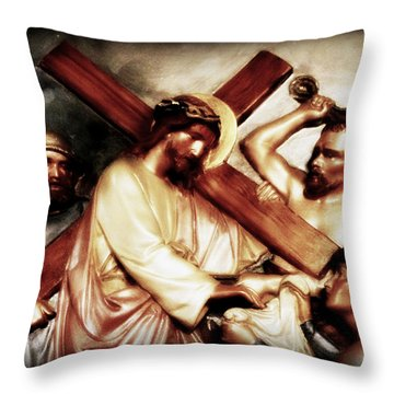 The Passion Of Christ Vii Throw Pillow