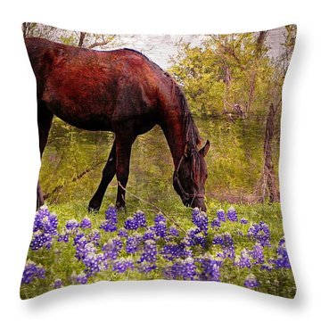The Pasture Throw Pillow