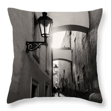 The Path Throw Pillow by Ivy Ho