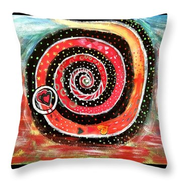 The Path Of Life Throw Pillow by Sherry Flaker
