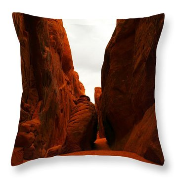 The Path To San Dune Falls Throw Pillow by Jeff Swan