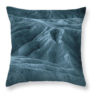 The Patterns Blue Throw Pillow