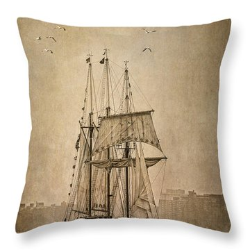 The Peacemaker Throw Pillow by Dale Kincaid