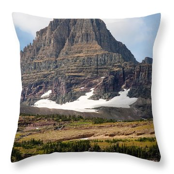 Throw Pillow featuring the photograph The Peak At Logans Pass by John M Bailey