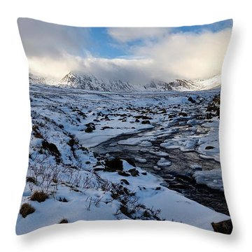 The Peaks Of Rannoch Moor Throw Pillow