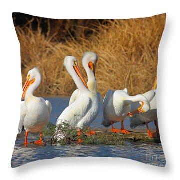 The Pelican Gang Throw Pillow