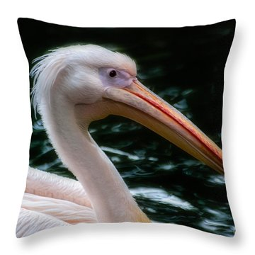 The Pelican Throw Pillow by Hannes Cmarits