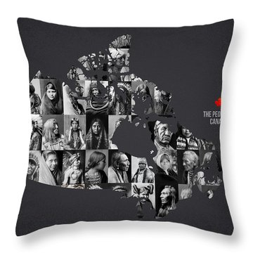 The People Of Canada Throw Pillow by Aged Pixel