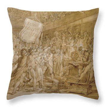 The People Of Paris Storm The Tuileries Throw Pillow by Francois Pascal Simon Gerard