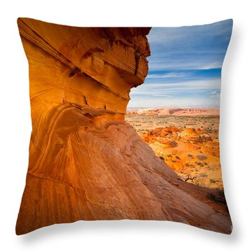 The Perch Throw Pillow by Inge Johnsson