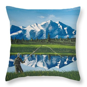 The Perfect Cast Throw Pillow by Norm Starks