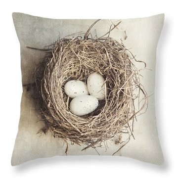 The Perfect Nest Throw Pillow by Lisa Russo