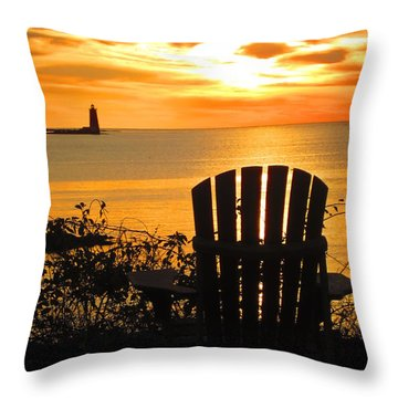 New Castle New Hampshire  Throw Pillow