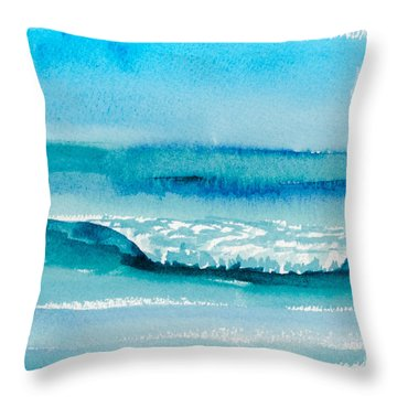 The Perfect Wave Throw Pillow