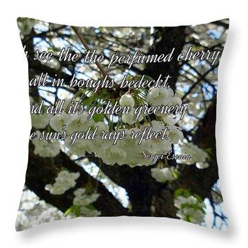 The Perfumed Cherry Tree 2 Throw Pillow