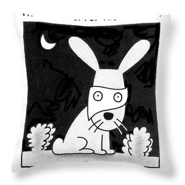 The Phantom Of The Garden Throw Pillow