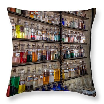 Medicine Bottles Throw Pillows